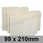 Rapid Colour Card, Pre-creased, Single Fold Cards, 225gsm, 99 x 210mm, Eider Vellum