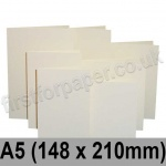 Rapid Colour Card, Pre-creased, Single Fold Cards, 225gsm, 148 x 210mm (A5), Eider Vellum