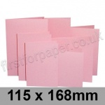 Rapid Colour Card, Pre-creased, Single Fold Cards, 225gsm, 115 x 168mm, Flamingo Pink
