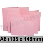 Rapid Colour Card, Pre-creased, Single Fold Cards, 225gsm, 105 x 148mm (A6), Flamingo Pink