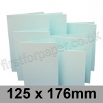 Rapid Colour Card, Pre-creased, Single Fold Cards, 230gsm, 125 x 176mm, Ice Blue