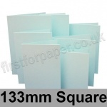 Rapid Colour Card, Pre-creased, Single Fold Cards, 230gsm, 133mm Square, Ice Blue