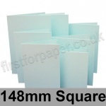 Rapid Colour Card, Pre-creased, Single Fold Cards, 230gsm, 148mm Square, Ice Blue