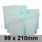 Rapid Colour Card, Pre-creased, Single Fold Cards, 230gsm, 99 x 210mm, Ice Blue