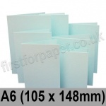 Rapid Colour Card, Pre-creased, Single Fold Cards, 230gsm, 105 x 148mm (A6), Ice Blue