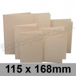 Rapid Colour Card, Pre-creased, Single Fold Cards, 225gsm, 115 x 168mm, Lapwing Brown