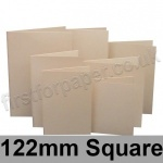 Rapid Colour Card, Pre-creased, Single Fold Cards, 225gsm, 122mm Square, Lapwing Brown