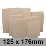 Rapid Colour Card, Pre-creased, Single Fold Cards, 225gsm, 125 x 176mm, Lapwing Brown