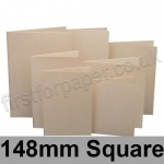 Rapid Colour Card, Pre-creased, Single Fold Cards, 225gsm, 148mm Square, Lapwing Brown