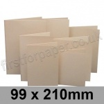 Rapid Colour Card, Pre-creased, Single Fold Cards, 225gsm, 99 x 210mm, Lapwing Brown