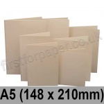 Rapid Colour Card, Pre-creased, Single Fold Cards, 225gsm, 148 x 210mm (A5), Lapwing Brown