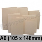 Rapid Colour Card, Pre-creased, Single Fold Cards, 225gsm, 105 x 148mm (A6), Lapwing Brown
