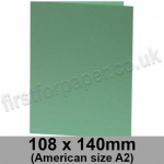 Rapid Colour Card, Pre-creased, Single Fold Cards, 240gsm, 108 x 140mm (American A2), Lark Green