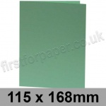 Rapid Colour Card, Pre-creased, Single Fold Cards, 240gsm, 115 x 168mm, Lark Green
