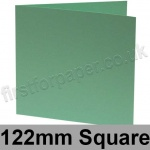 Rapid Colour Card, Pre-creased, Single Fold Cards, 240gsm, 122mm Square, Lark Green