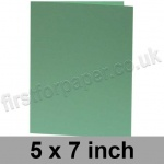 Rapid Colour Card, Pre-creased, Single Fold Cards, 240gsm, 127 x 178mm (5 x 7 inch), Lark Green