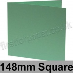 Rapid Colour Card, Pre-creased, Single Fold Cards, 240gsm, 148mm Square, Lark Green