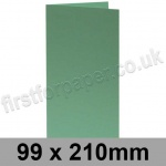Rapid Colour Card, Pre-creased, Single Fold Cards, 240gsm, 99 x 210mm, Lark Green
