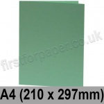 Rapid Colour Card, Pre-creased, Single Fold Cards, 240gsm, 210 x 297mm (A4), Lark Green