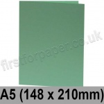 Rapid Colour Card, Pre-creased, Single Fold Cards, 240gsm, 148 x 210mm (A5), Lark Green