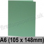 Rapid Colour Card, Pre-creased, Single Fold Cards, 240gsm, 105 x 148mm (A6), Lark Green
