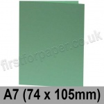 Rapid Colour Card, Pre-creased, Single Fold Cards, 240gsm, 74 x 105mm (A7), Lark Green