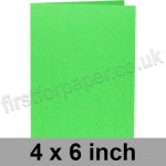 Rapid Colour Card, Pre-creased, Single Fold Cards, 225gsm, 102 x 152mm (4 x 6 inch), Lime Green