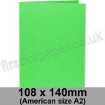 Rapid Colour Card, Pre-creased, Single Fold Cards, 225gsm, 108 x 140mm (American A2), Lime Green
