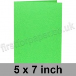 Rapid Colour Card, Pre-creased, Single Fold Cards, 225gsm, 127 x 178mm (5 x 7 inch), Lime Green