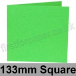 Rapid Colour Card, Pre-creased, Single Fold Cards, 225gsm, 133mm Square, Lime Green