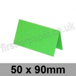 Rapid Colour Card, Pre-creased, Place Cards, 225gsm, 50 x 90mm, Lime Green