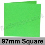 Rapid Colour Card, Pre-creased, Single Fold Cards, 225gsm, 97mm Square, Lime Green