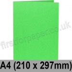 Rapid Colour Card, Pre-creased, Single Fold Cards, 225gsm, 210 x 297mm (A4), Lime Green