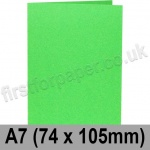 Rapid Colour Card, Pre-creased, Single Fold Cards, 225gsm, 74 x 105mm (A7), Lime Green