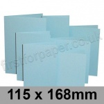 Rapid Colour Card, Pre-creased, Single Fold Cards, 225gsm, 115 x 168mm, Merlin Blue