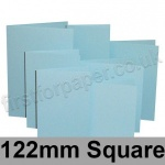 Rapid Colour Card, Pre-creased, Single Fold Cards, 225gsm, 122mm Square, Merlin Blue