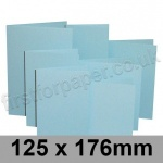 Rapid Colour Card, Pre-creased, Single Fold Cards, 225gsm, 125 x 176mm, Merlin Blue