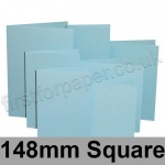 Rapid Colour Card, Pre-creased, Single Fold Cards, 225gsm, 148mm Square, Merlin Blue