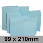 Rapid Colour Card, Pre-creased, Single Fold Cards, 225gsm, 99 x 210mm, Merlin Blue