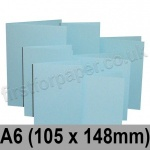 Rapid Colour Card, Pre-creased, Single Fold Cards, 225gsm, 105 x 148mm (A6), Merlin Blue
