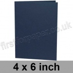 Rapid Colour Card, Pre-creased, Single Fold Cards, 240gsm, 102 x 152mm (4 x 6 inch), Navy Blue