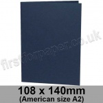 Rapid Colour Card, Pre-creased, Single Fold Cards, 240gsm, 108 x 140mm (American A2), Navy Blue