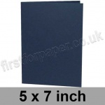 Rapid Colour Card, Pre-creased, Single Fold Cards, 240gsm, 127 x 178mm (5 x 7 inch), Navy