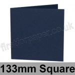 Rapid Colour Card, Pre-creased, Single Fold Cards, 240gsm, 133mm Square, Navy Blue