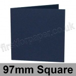 Rapid Colour Card, Pre-creased, Single Fold Cards, 240gsm, 97mm Square, Navy Blue