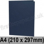 Rapid Colour Card, Pre-creased, Single Fold Cards, 240gsm, 210 x 297mm (A4), Navy Blue