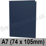 Rapid Colour Card, Pre-creased, Single Fold Cards, 240gsm, 74 x 105mm (A7), Navy Blue