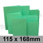 Rapid Colour Card, Pre-creased, Single Fold Cards, 225gsm, 115 x 168mm, Ocean Green
