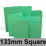 Rapid Colour Card, Pre-creased, Single Fold Cards, 225gsm, 133mm Square, Ocean Green