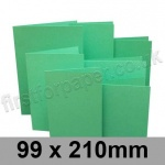 Rapid Colour Card, Pre-creased, Single Fold Cards, 225gsm, 99 x 210mm, Ocean Green